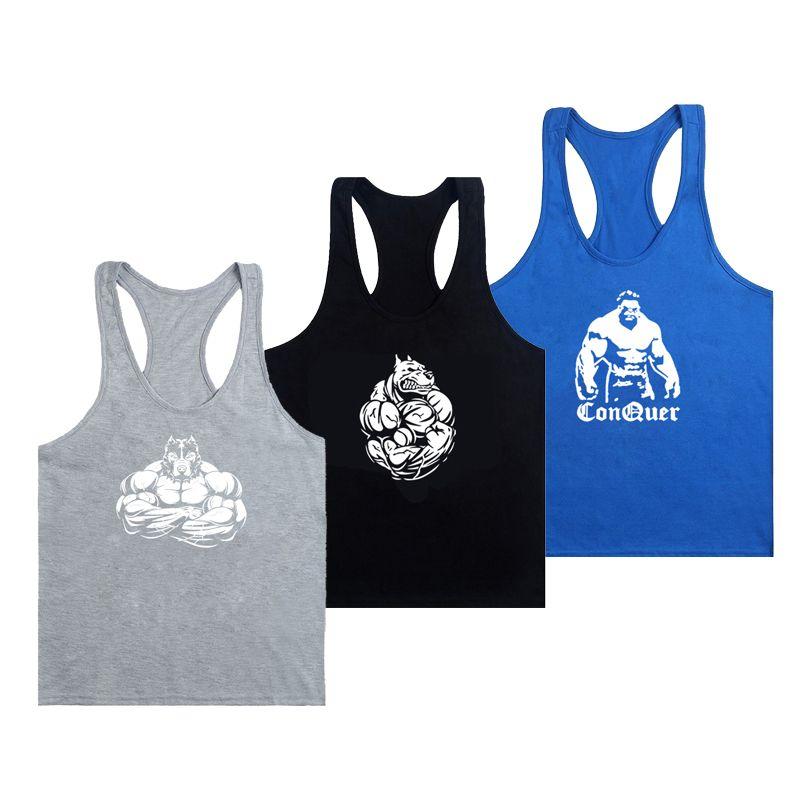 Yeni Moda Erkekler kas Kolsuz İnce Tee Shirt Vücut Geliştirme Fitness Yelek Şık Erkek Spor Tank Spor MX200815 Tops