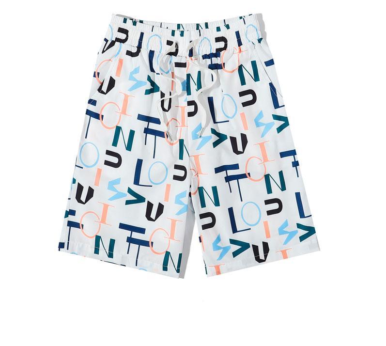 Herrenhosen Stylist Shorts Mode für Männer Fünf Minuten Sport Hosen Klassische Brief gedruckt beiläufige Art kurze Hose 2 Farben Größe S-2XL