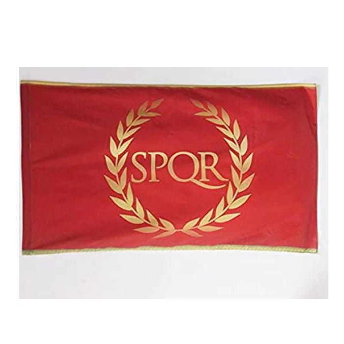 Bandeira Nova Roma SPQR Bandeira 3x5 FT 90x150cm costura dupla 100D Polyester Festival presente Indoor venda Outdoor Impresso Hot