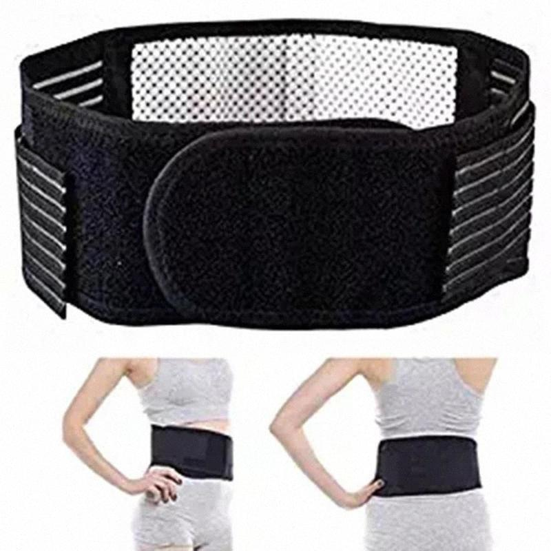 Adjustable Self-heating Magnetic Therapy Waist Support Brace Massager Strap M9Hf#