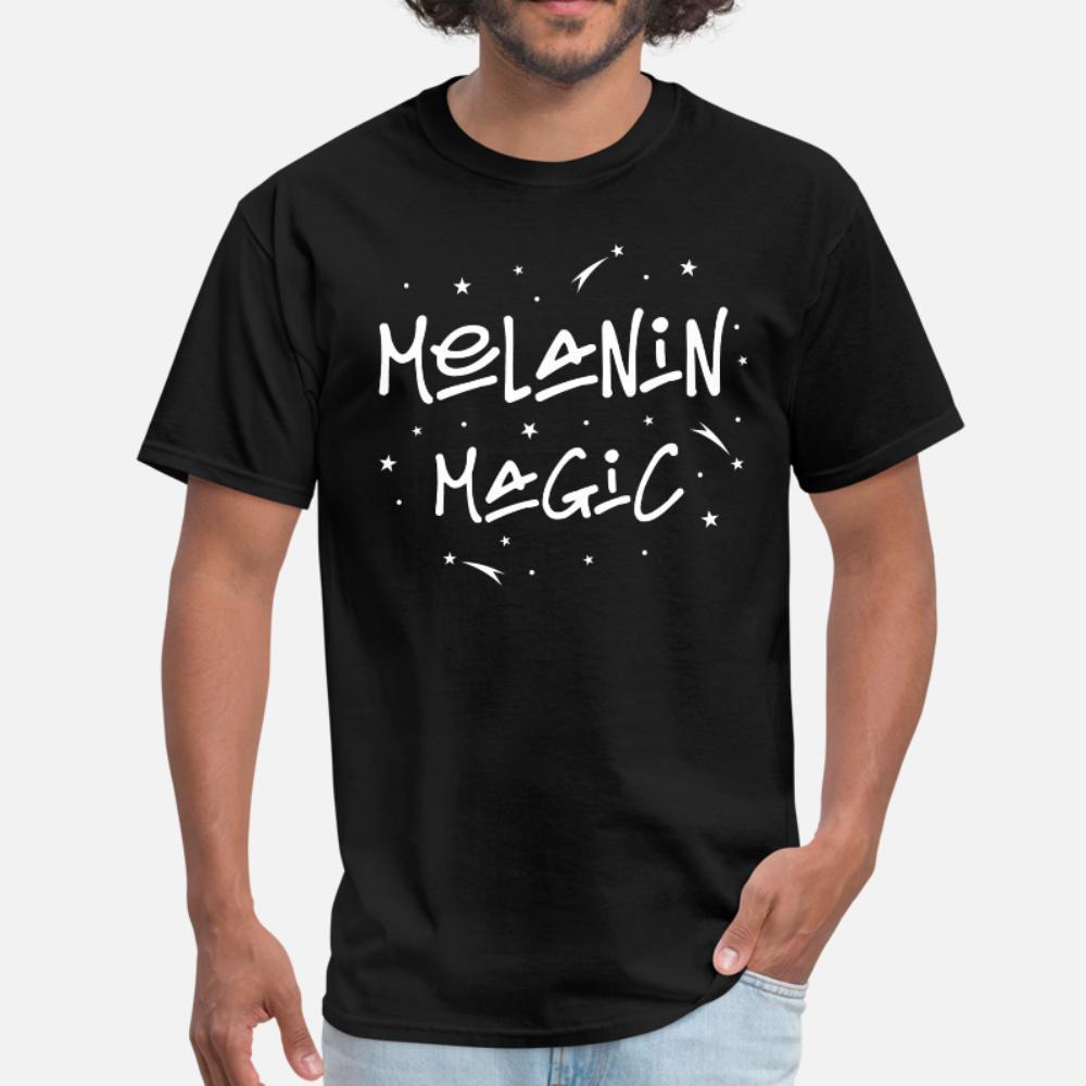Melanina Magia projeto camiseta plus size 3xl camisa masculina Aptidão respirável Letters verão camiseta homens