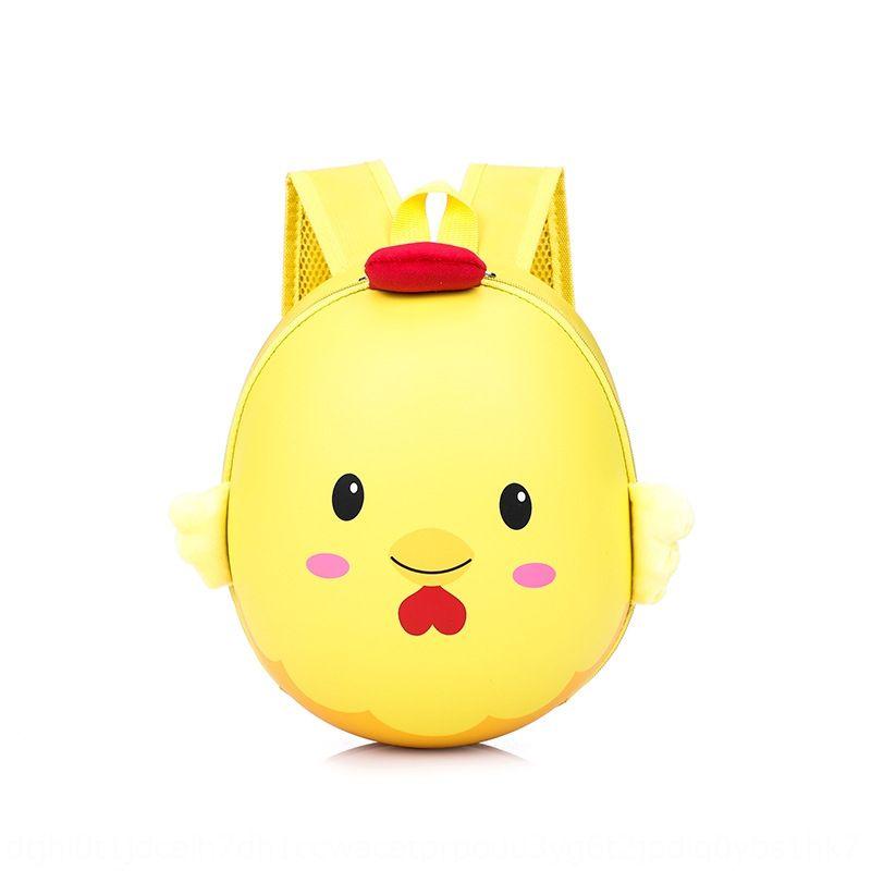 Kindergarten chicken cute chick eggshell children's cartoon schoolbag first grade schoolbag children's baby backpack