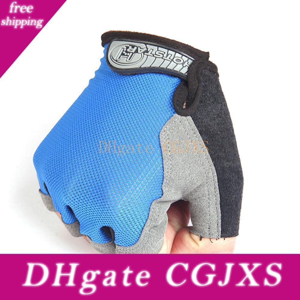 Stile Estate Alta Elastic mesh traspirante Mezza -Fingered sport esterni Guanti guanti di guida Guanti Fitness