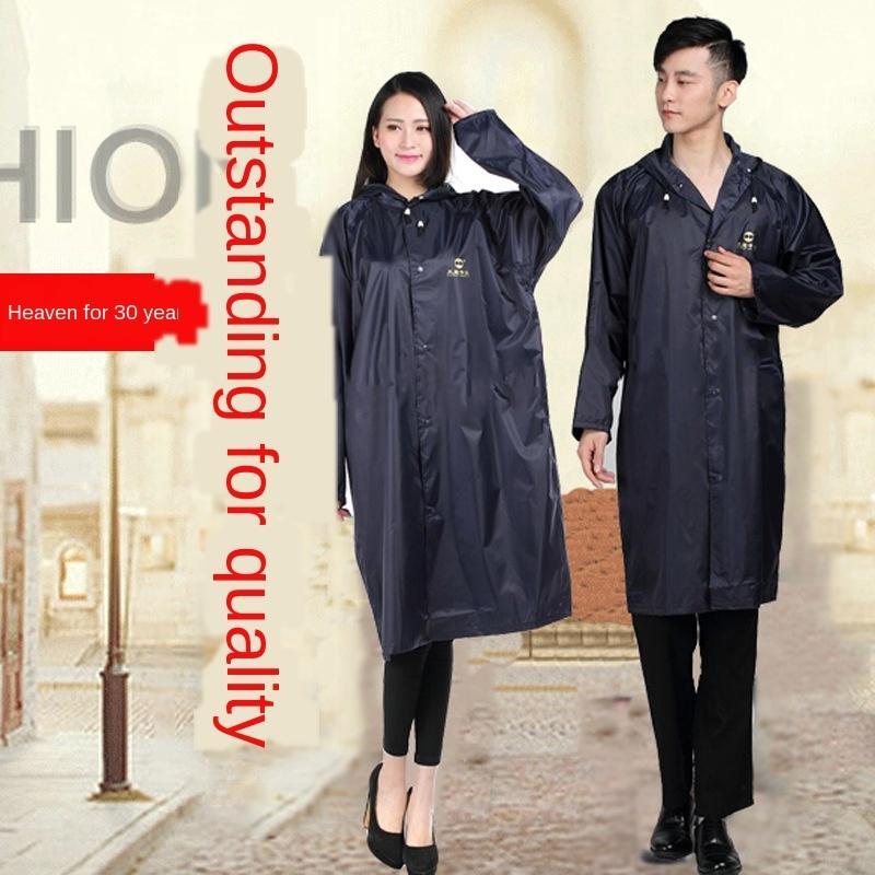WjqIF céu capa de chuva NF-2 homens e seda de nylon das mulheres longo único estilo poncho exterior Manto Windbreaker impressão blusão