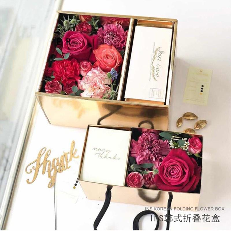 5шт / серия коробка подарка DIY Свадеб Портативный складной цветок торт конфеты коробка с крышкой ПВХ Цветочный десерт Упаковка