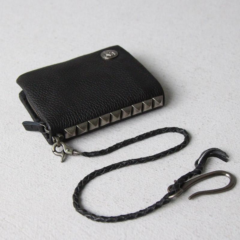 أزياء سلسلة برشام جلد طبيعي جلد محفظة رجل محفظة قصيرة الرمز البريدي حول الذكور مقاطع محفظة النقود حقيبة الجمجمة المال الأسود