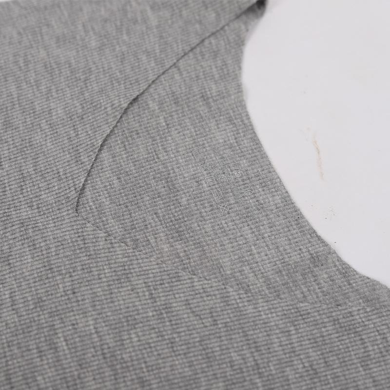 Threaded Ice modale maglietta gilet con scollo a V spalla larga più di formato Seta senza soluzione di continuità da uomo loose asciugatura rapida toccare il fondo maniche T-shirt summ