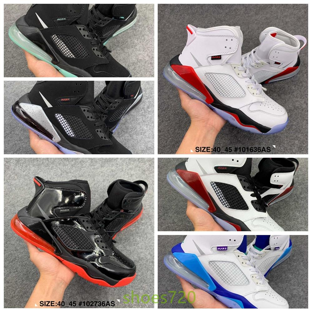 Nike Air Jordan Mars 270 Retro AJ270 AJ 2020 Bred de basket-ball de chat noir 270 270S Chaussures Hommes Blanc Ciment Ailes Encore Singles feu Retroes Chaussures de sport argent