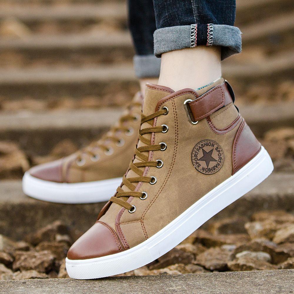 2020 sıcak Moda Yüksek üst erkekler ve kadınlar çift ayakkabı spor ayakkabıları İlkbahar ve Sonbahar sezonu düz Casual ayakkabı Klasik moda ayakkabılar 36-47