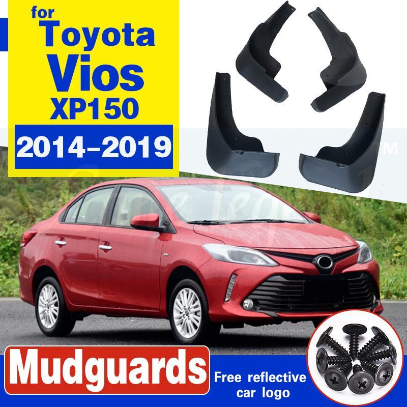 pour Toyota Yaris Berline 2014 Vios ~ 2019 XP150 Mudflap Fender Garde-boue boue Rabats Splash Guard Flap Accessoires 2015 2016 2017 2018