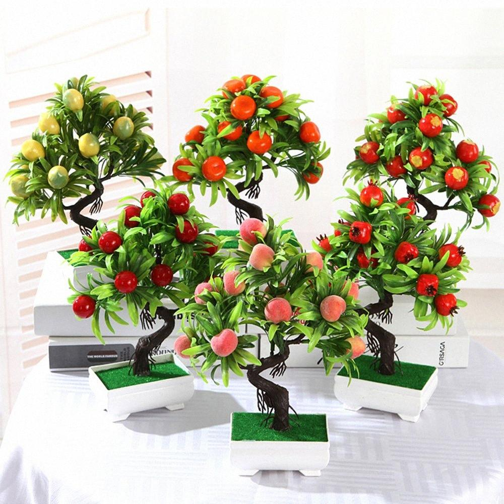2020 Artificial Fruit Bonsai Plants Apple Orange Fruit Tree Set Potted For Home Hotel Party Decoration Artificial Ornaments Plants Hkq8 From Heredo 25 63 Dhgate Com