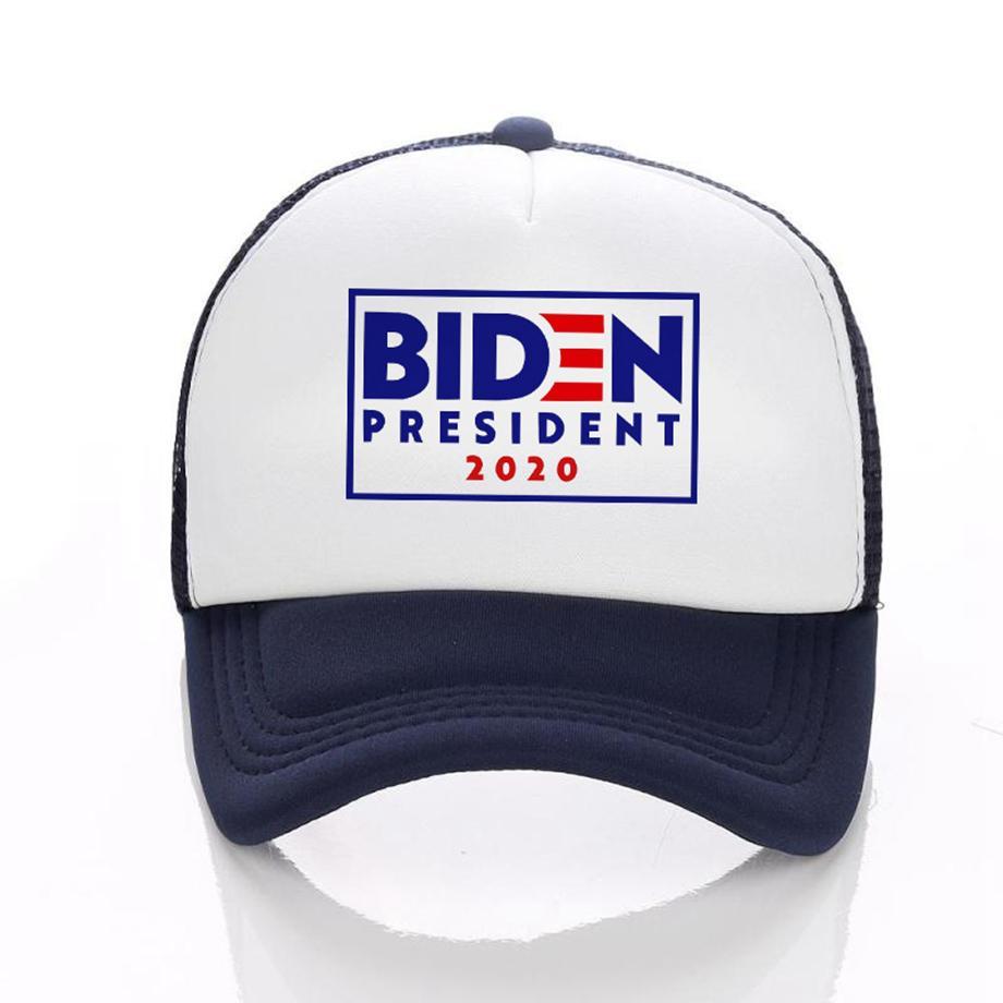 Joe Biden Bone 2020 Ameria presidente dos EUA, Eleição dos retalhos Cap Homens Mulheres bonés ajustável malha exterior camionista Tampão