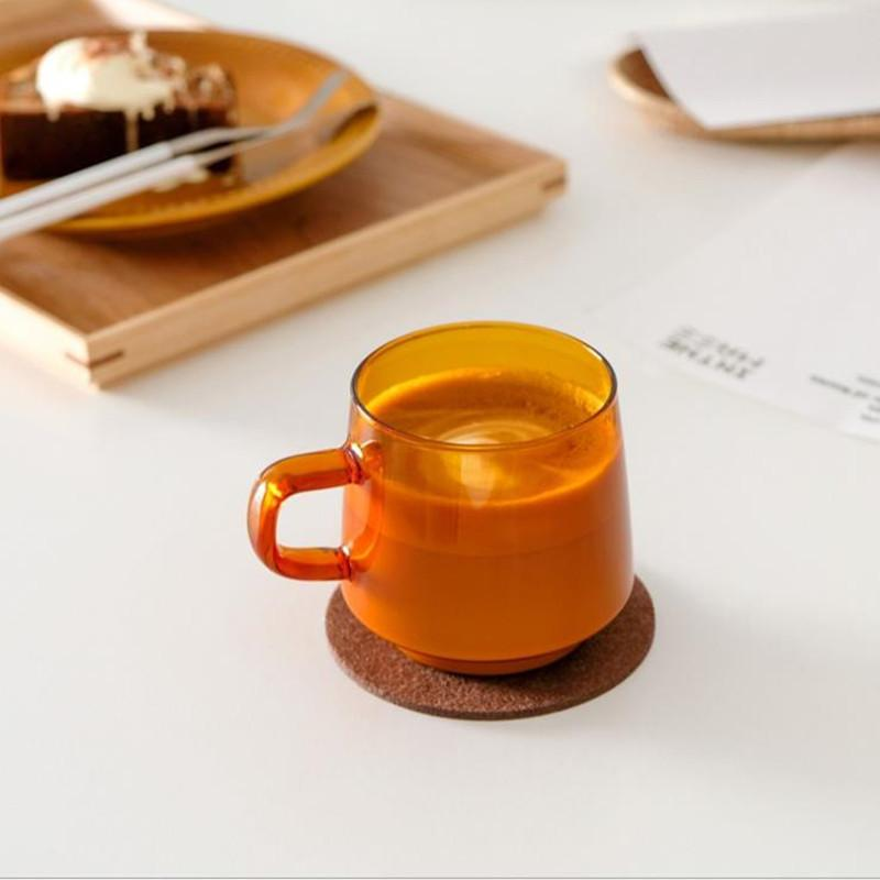 Glass Coffee Cup Cutelife Ins Nordic Latte di vetro colorato Vintage acqua del tè al latte tazza di vetro Wedding termoresistente trasparente Tazza LJ200821