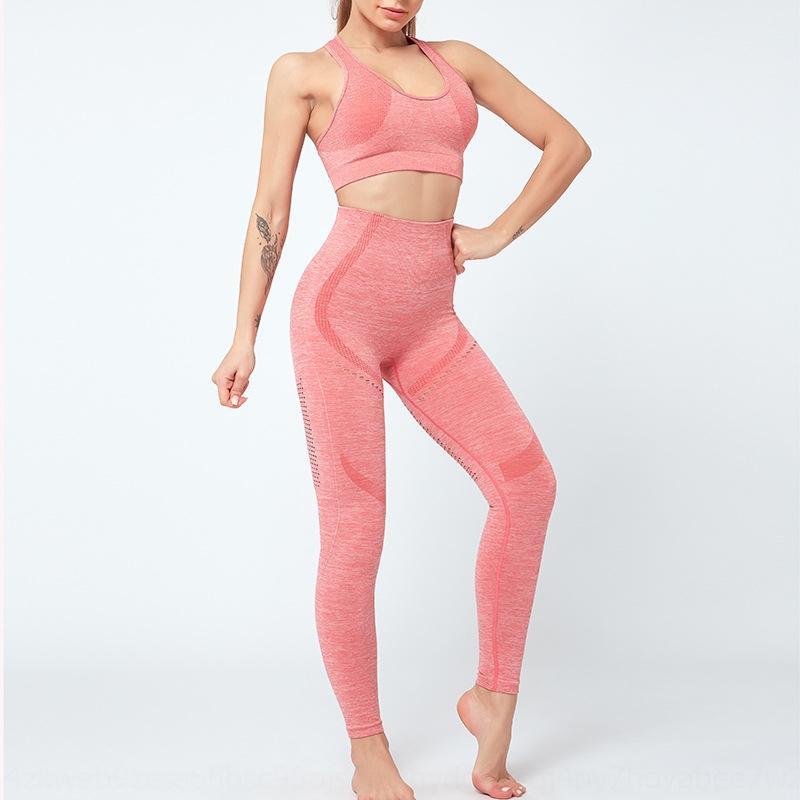 8lSMI ins pantalons de yoga célébrité en cours d'exécution en deux parties costume exercice fitness forme physique sportive SPOR Etirement taille haute Internet Unde cA0df