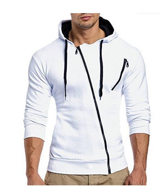 Круглый шеи с капюшоном с длинным рукавом Теплый спортивный пальто с капюшоном Мода молния куртки вскользь пальто осень и зима