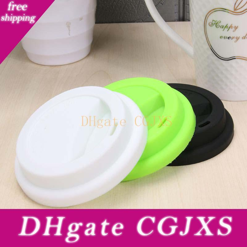 Silicone Cute Anti -Dust Glass Cup Cover Coffee Mug Suction Seal Lid Cap Kitchen Drinkware Lid Bar Tool