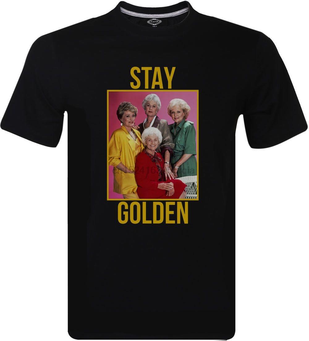 Séjour d'Or Objectifs Squad The Golden Girls T-shirt homme séries télé chemises classiques