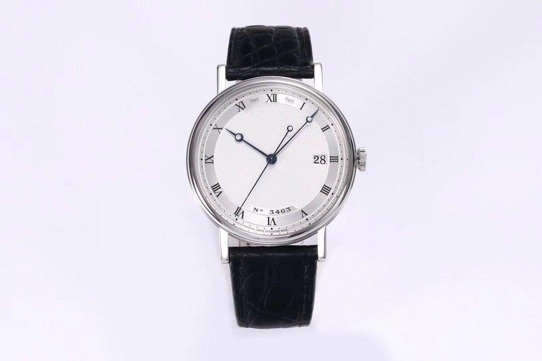 В 2020 годе, ультра-тонкие классические мужские часы с диаметром 38mmX8.5mm оснащены 777Q движениями водонепроницаемых механическими часами