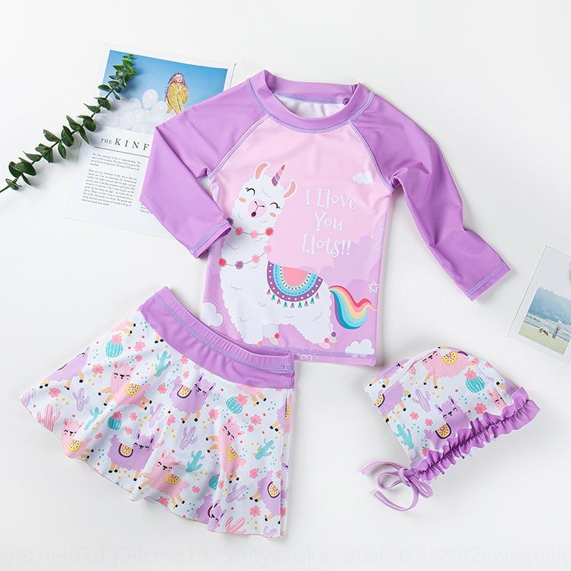 kXS0s DE50e petite fille robe princesse coréenne maillot de bain princesse ins coréenne robe jupe maillot de bain de soleil à l'épreuve à séchage rapide split pour enfants fille