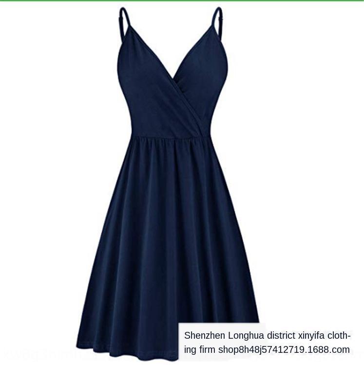 NPpeu 2020 kadın yaz V yaka baskılı pileli gündelik cebi salıncak 2020 kadın yaz V yaka baskılı pileli sapan sapan elbise gündelik poc