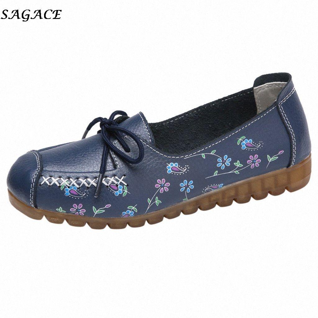 Sagace 2020 nouvelles femmes Confortable Low Top Chaussures plates avec Printed Chaussures plates occasionnels haut Qualityo Utdoor Casual rMep #