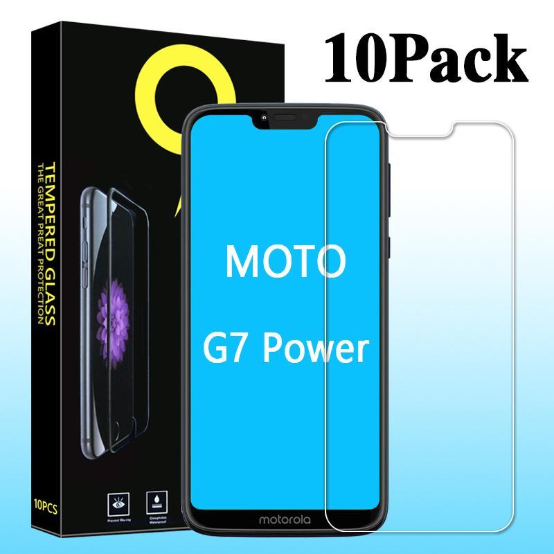 Schirm-Schutz für MOTO G7, G7plus, G7play, G7 Macht, ausgeglichenes Glas für MOTO E5, E5 Plus MOTO E6 Ten in einem, mit dem Kleinpapierkasten