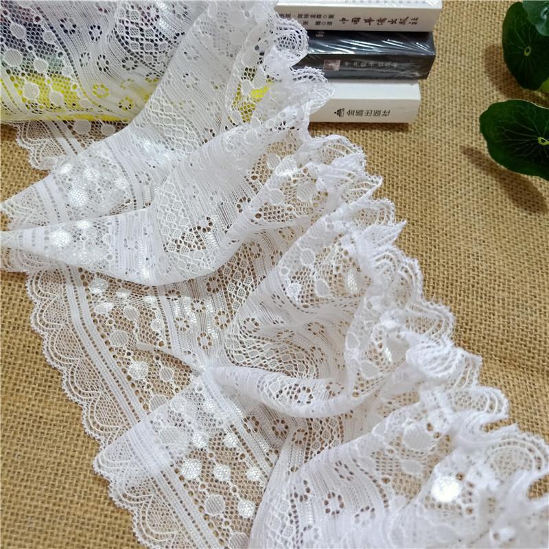 16.5CM de haute qualité en organza tissu maille dentelle française suisse tricot chaîne machine spandex fil Bari tissu de mariage décoratif