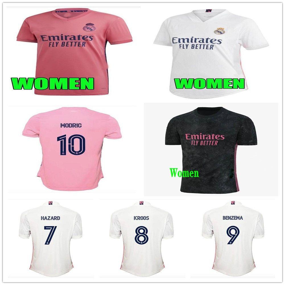 النساء كرة القدم الفانيلة ريال مدريد 20 21 خطط جوفيك البنزيما camiseta دي فوتبول 2020 2021 فينيسيوس روبرجو موشر السيدات قمصان كرة القدم