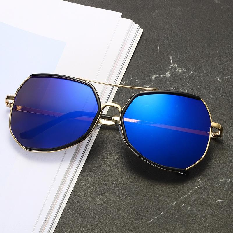 Kjgkw Gri Ant moda metal halka Güneş güneş sunirregular yıldız aynı tarz güneş gözlüğü erkek ve kadın moda güneş gözlükleri