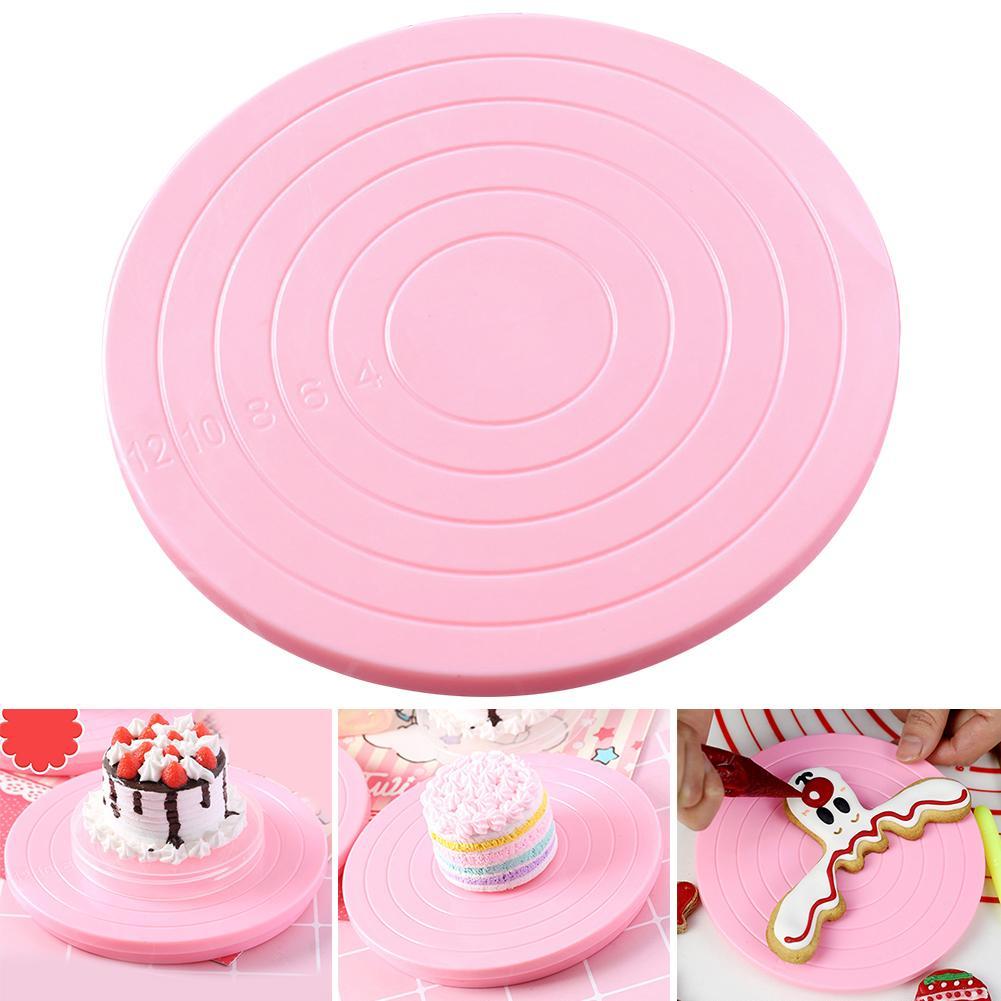 Dessert torta della piattaforma girevole che decora il basamento del piatto rotante Piattaforma antiscivolo fondo