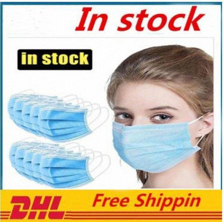 Nueva prueba de polvo desechable mascarilla de 3 capas faciales Máscaras cubierta protectora anti-polvo desechables Salon Earloop Boca máscara máscaras del partido oy26 #