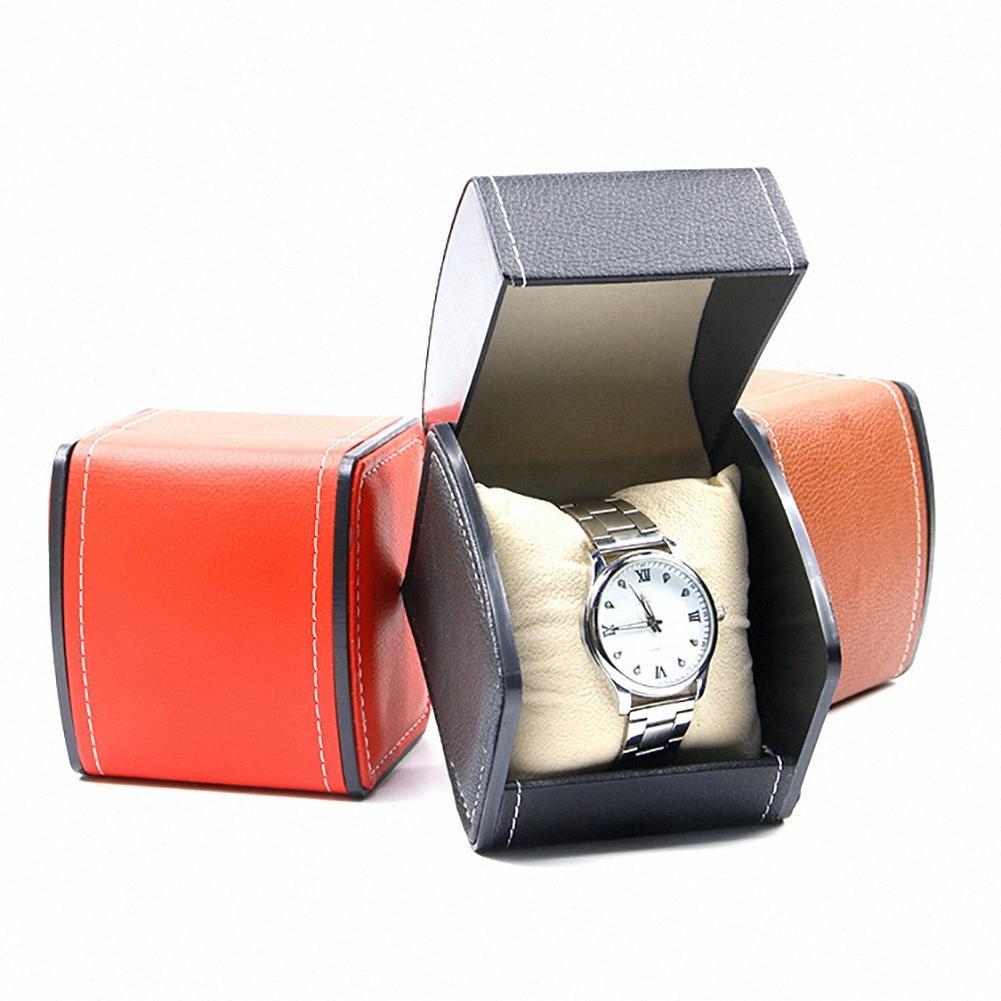 Luxe Ecrin Coffrets cadeaux en cuir véritable Coffret avec emballage d'oreiller pour Bangle Bague Boucles d'oreilles poignet Larn #