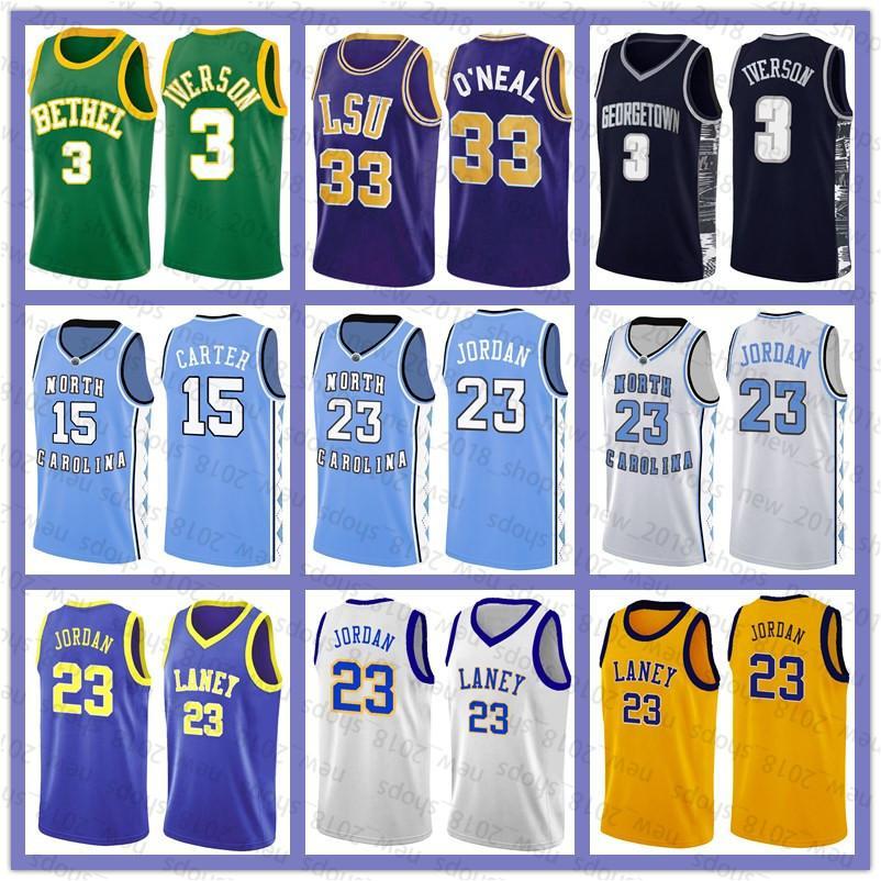 NCAA 23 Michael Jersey Vince 15 Carter Allen 3 Iverson Shaquille 33 O'Neal Lebron Jersey James North Carolina University Basketball