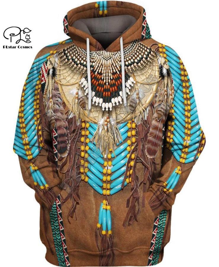 Индейские 3D Толстовки / кофты Tee Мужчины Женщины Новая мода капюшоном зима осень длинным рукавом Streetwear пуловер LJ200808