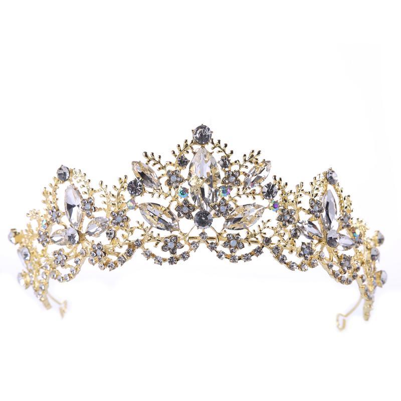 Taç Barok Kristal Renk Tutma Firma Çevre Koruma Hayır Cilt Hasar Gelin Şapkalar Taç Düğün Aksesuarları B Uzun ömürlü