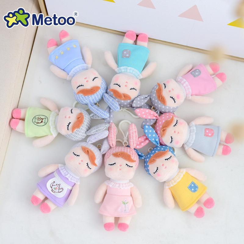 Metoo Doll Stuffed Toys Plush Animals Soft Baby Boy Kids Toys for Children Girls Boys Kawaii Mini Angela Rabbit Pendant Keychain LJ200822