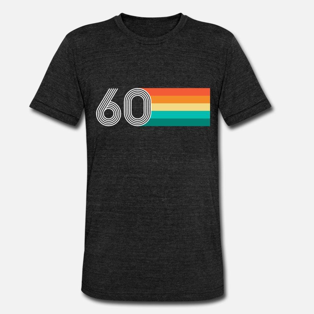 shirt do presente New Style Primavera Outono Lazer aniversário 60 Retro Vintage t shirt homens algodão personalizado O Neck senhores