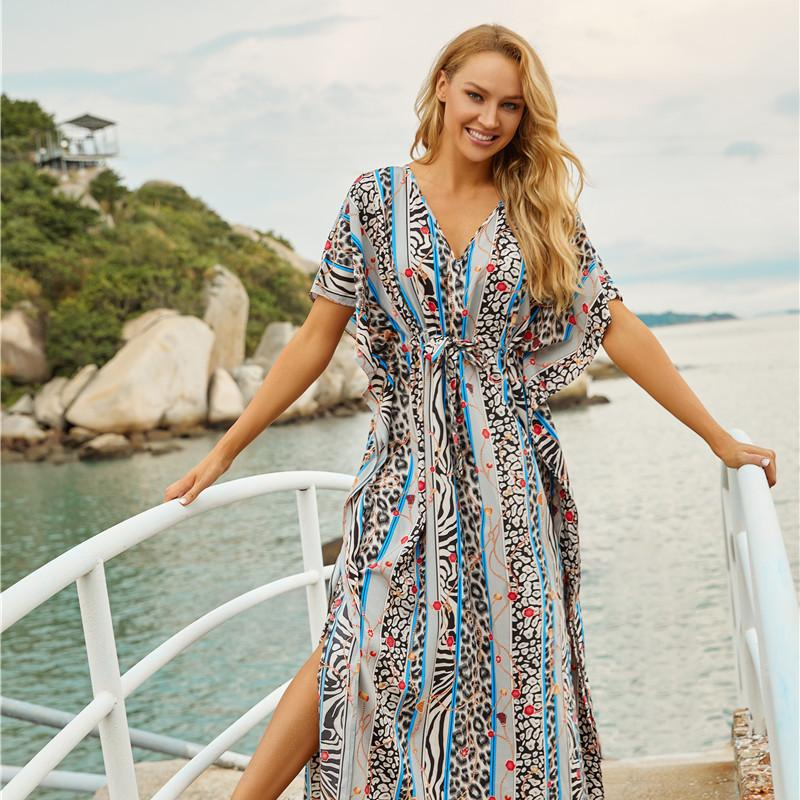 Swimming Suit For Women Sun Beach Dresses And Tunic Kaftan Cover Ups Swimwear Cape Salidas Swim Covers Up Salida De Playa Mujer