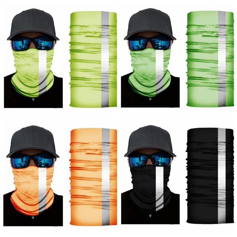 Masks Fluorescence Magic Neckerch Bandanas Sunblock Sports Headwarp Outdoor Cycling Neck Wrap Headband Protection Mask Dustproof Mask LSK762
