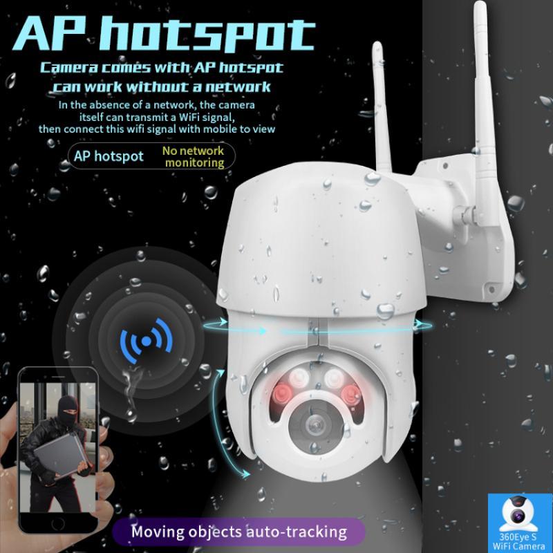 1шт Нового 720P WIFI Камера Открытого PTZ IP-камера 2MP Wireless Speed Dome CCTV камера безопасность ИК Главное Открытое Наблюдение