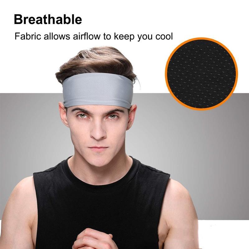 Unisex Esporte Cotton Tafilete Headband Para Homens Mulheres Yoga Bandas Hairband Gym estiramento Cabeça Forte Elastic Academia de Basquetebol Banda