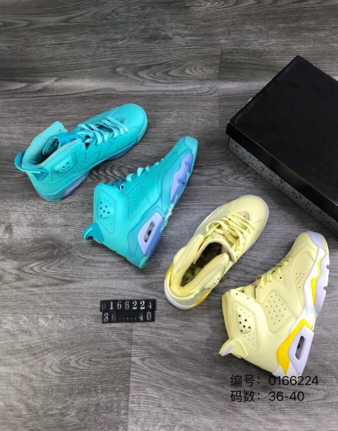 2020 nuovi pattini di modo di Jumpman 6 VI Fiore Giallo chiaro ricamo Lemon Sky Blu di pallacanestro di buona qualità 6s sport delle donne delle scarpe da tennis degli Stati Uniti 40-46