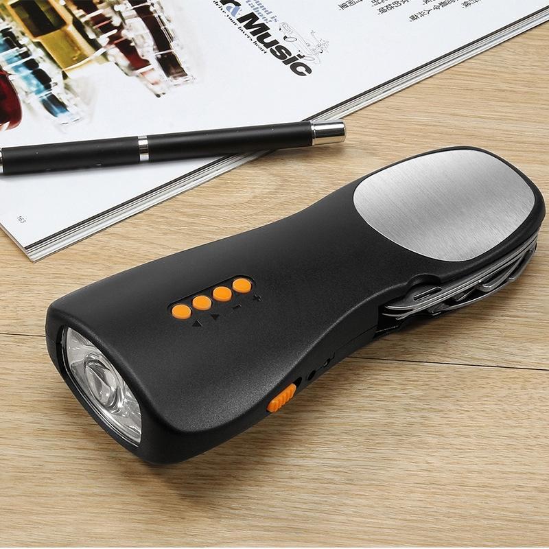 Multi-funcional Radio FM rádio lanterna geração de energia mão carregamento tesouro exterior de emergência cobrando lanterna tesouro