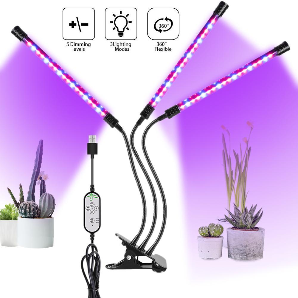 5V USB-светодиод расти светлый спектр Полный спектр фитолампийский таймер фитовой лампы для крытого растительного цветочного растения палатка саженцы семян