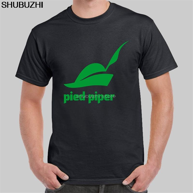 uomini maglietta nera Logo Pifferaio società della Silicon Valley T-shirt manica corta O-collo della maglietta maglietta di modo sbz5129