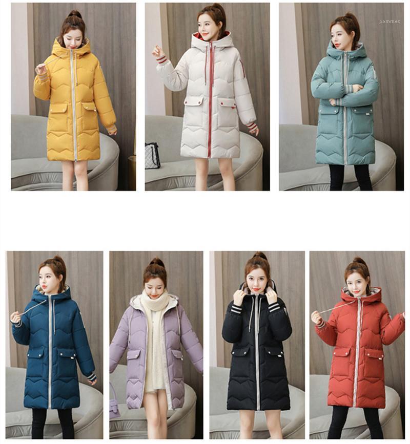 Vêtements d'extérieur Designer Femme en vrac Casual Zipper longues Vestes Femmes Down Jacket matelassée Manteaux Fashion Version coréenne manches longues printemps à capuchon