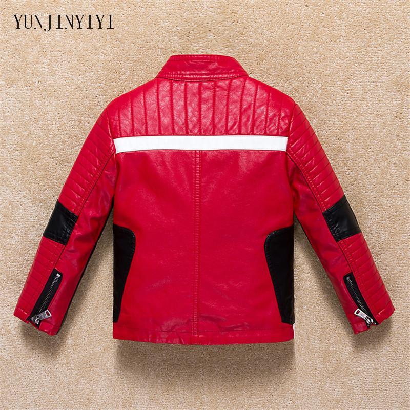 Boy otoño abrigo de invierno de la marca de cuero diversión de los niños de manga larga chaqueta de la motocicleta Y200831