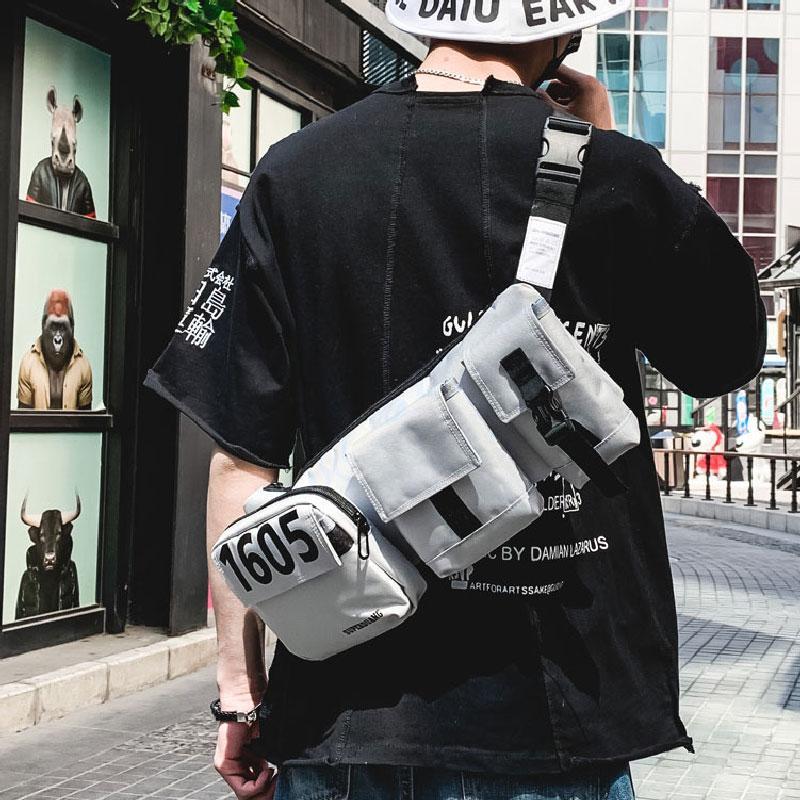 Outdoor Tactical Chest Rig Army Men Molle Vest Bag streetwear do estilo Hip Hop ombro Packs Peito Vest Saco