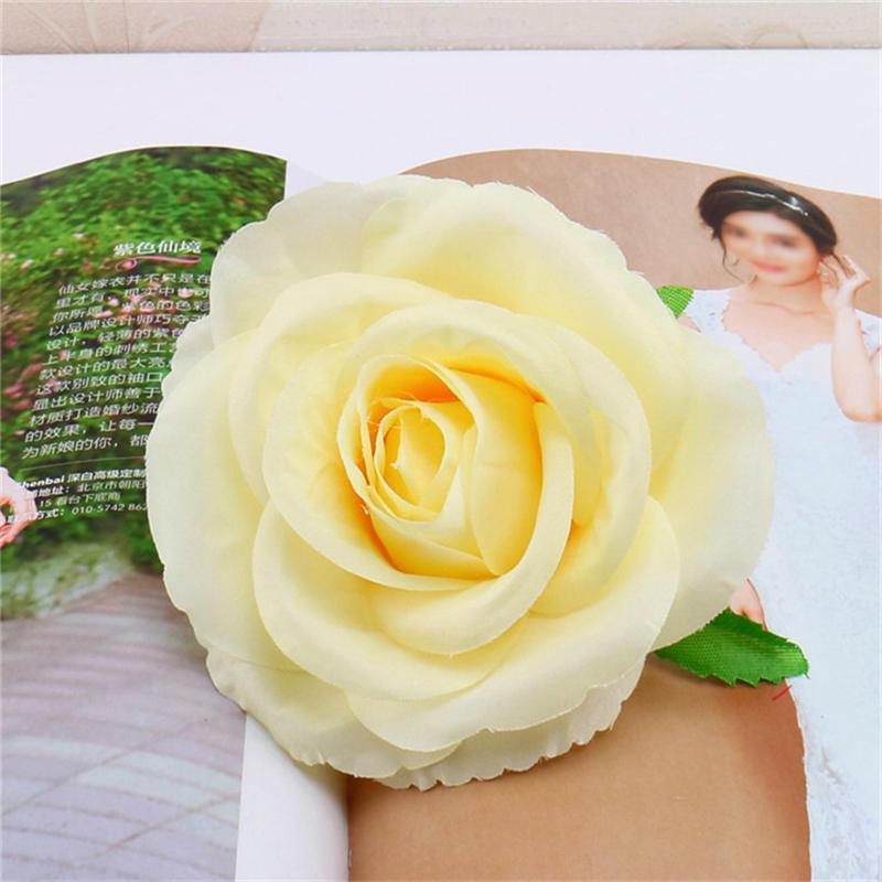 10cm İpek Güller Çok kullanımlık Yapay Çiçek Başkanları El yapımı DIY Çelenk Düğün Dekorasyon Ev Bahçe 7 Renkler Malzemeleri