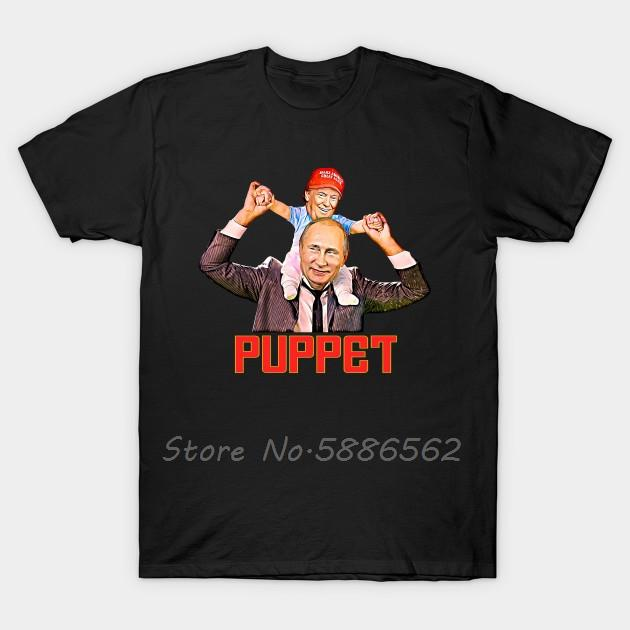 Забавный Ребенок Trump Кукловод Путин T-Shirt Мужчина O-образный вырез с коротким рукавом Футболка Unisex Хлопок Тис Harajuku